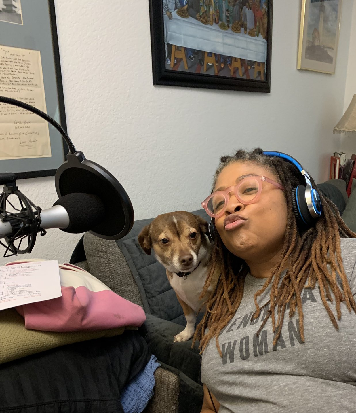 Alfie helping with the podcast!